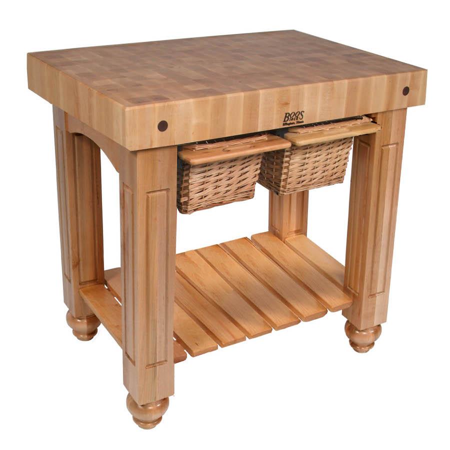 John Boos CU-GB3624-N - Natural Table Base on Maple End Grain Butcher Block