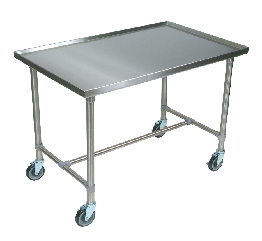 Boos Cucina Mariner Stainless Steel Serving Table/Cart - with Marine Edge