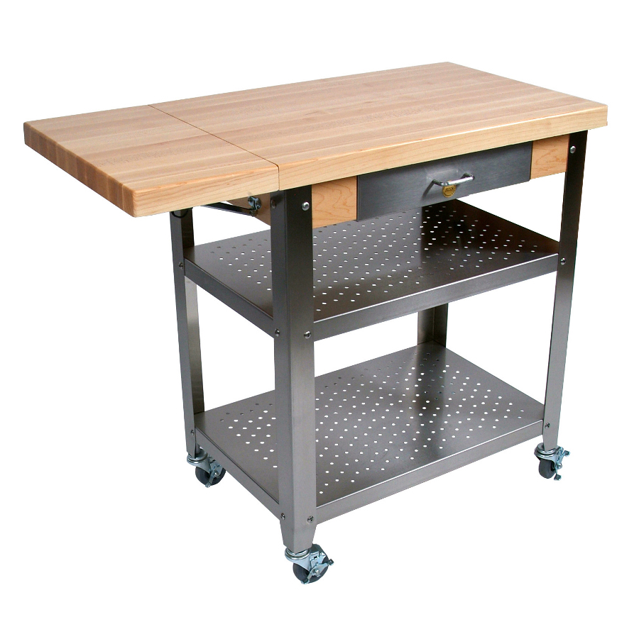 Boos Cucina Elegante Kitchen Cart w Drop Leaf - CUCE40