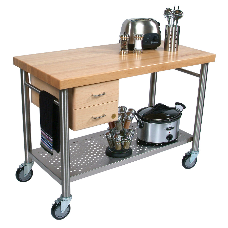 Medium image of john boos cucina magnifico kitchen cart cucic04