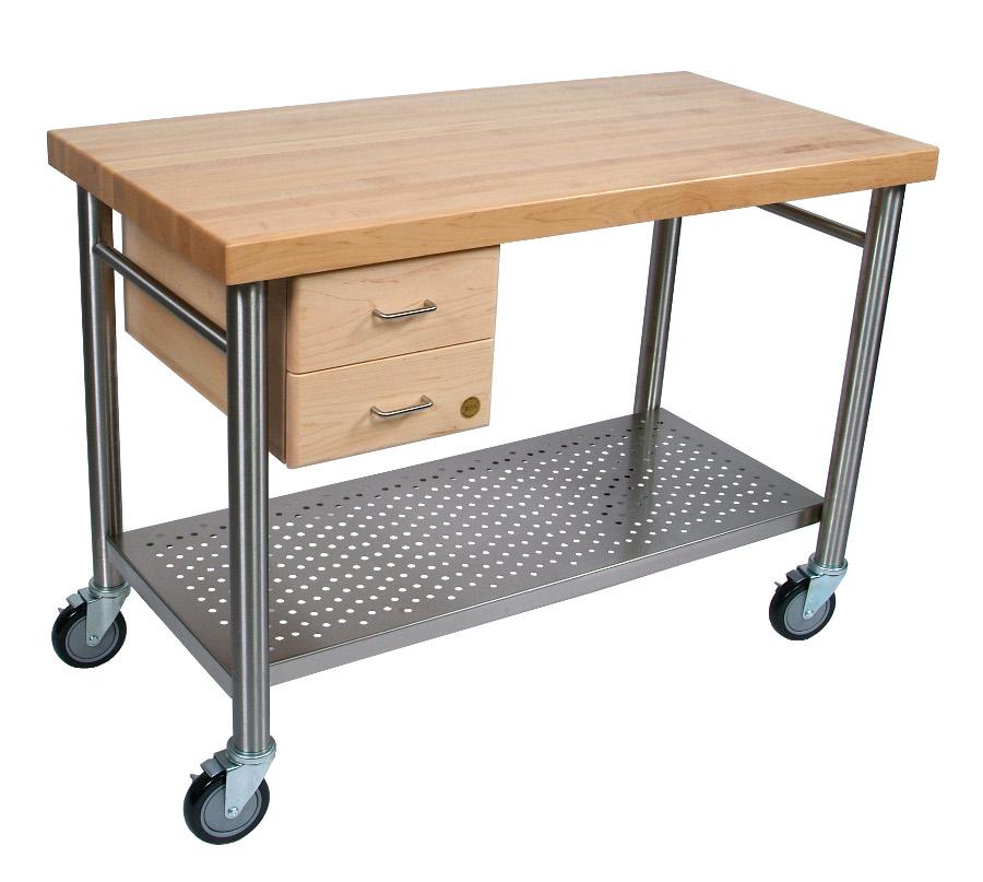 John Boos Cucina Magnifico Kitchen Cart W Drawers
