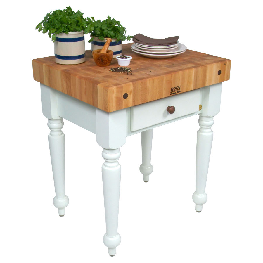 John Boos Rustica Small Kitchen Island
