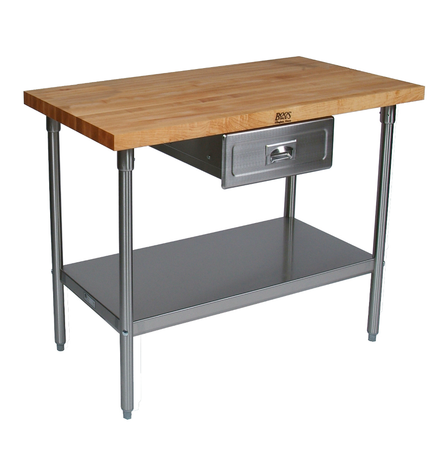 Boos Cucina Grandioso Maple Top Stainless Steel Work Station