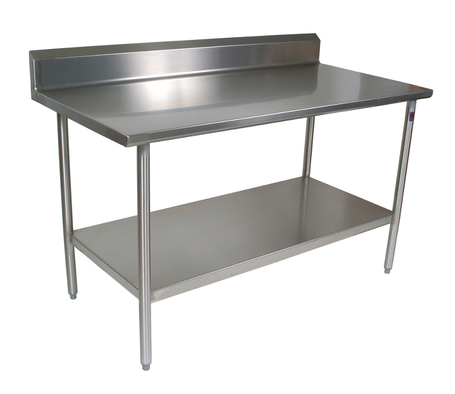 John Boos Cucina Tavalo Stainless Steel Work Table with Rear Riser CUCTA