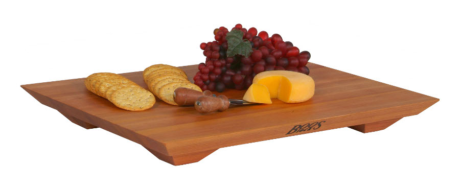 "John Boos 20""x15"" Cherry Fusion Cutting Board w/ Sculpted Feet"