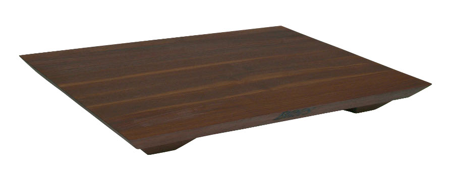 Contemporary Walnut Cutting Board with Feet Fusion WAL-FB201501