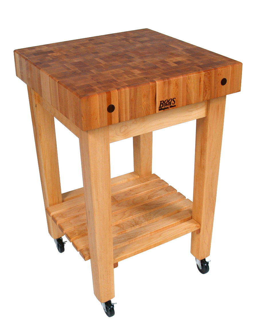 Maple Butcher Block on wheels Model GB-C
