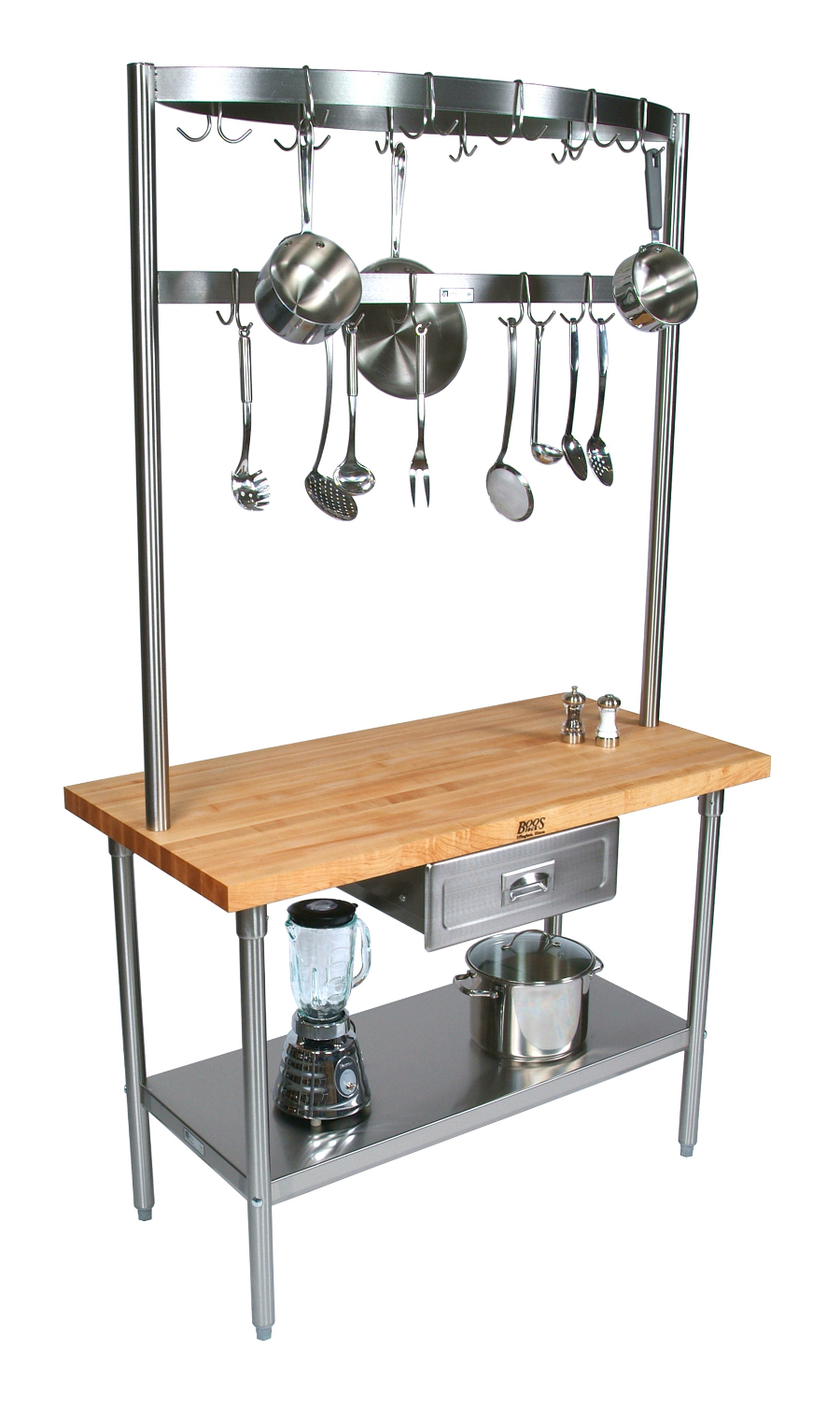 Kitchen Work Station with Pot Rack Model GRA