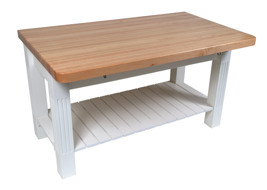John Boos Grazzi Butcher Block Table with Drop Leaf