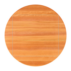 john boos cherry edge grain round dining table with drop leaves