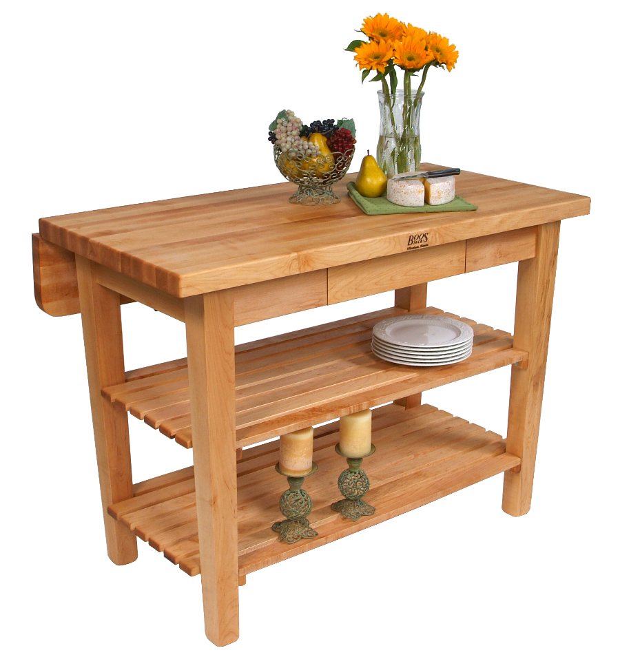 ^ Butcher Block Kitchen Island  John Boos Islands