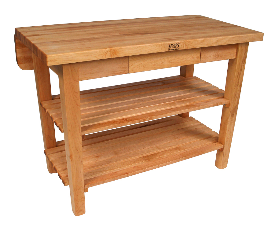 Maple Kitchen Island Bar with drop leaf