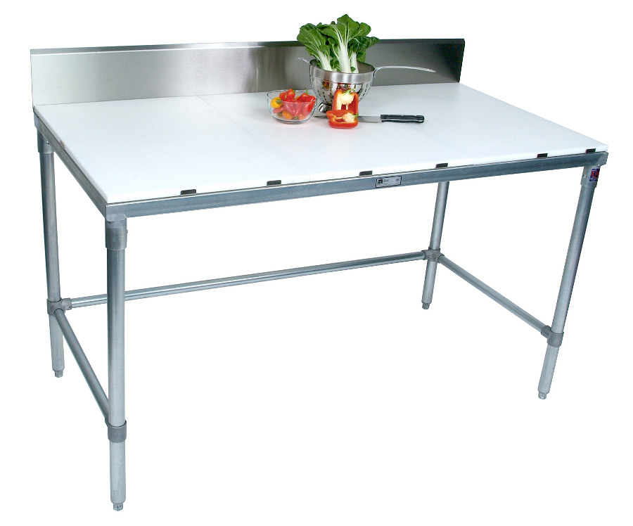 Boos Galvanized-Base Cutting Table w/ 3/4