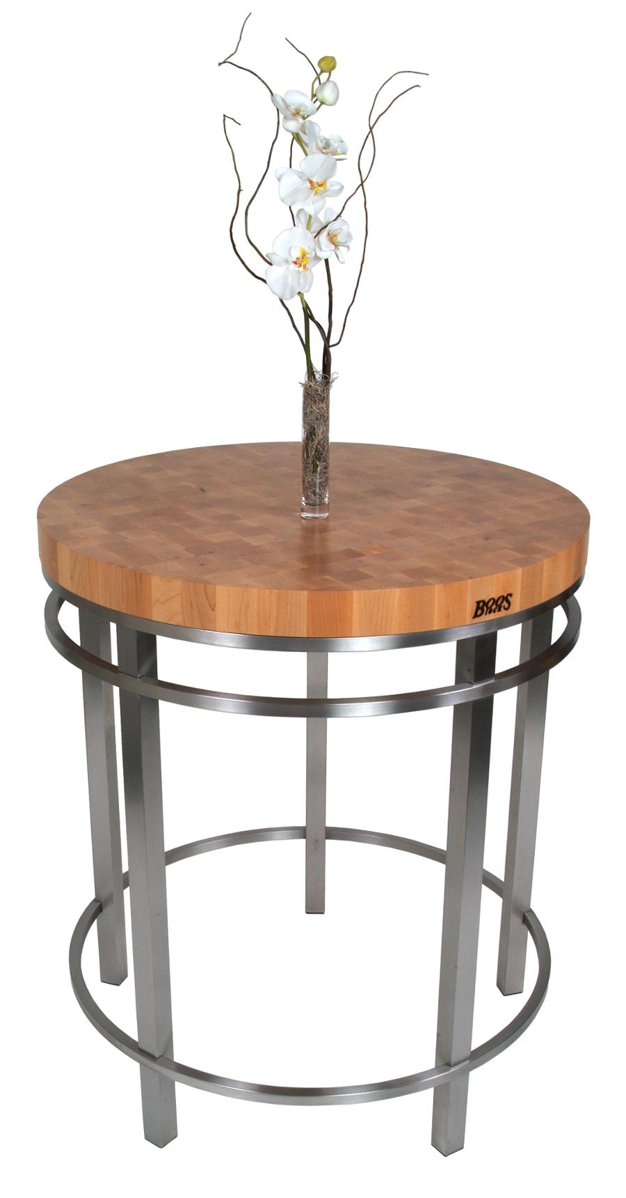 John Boos Metro Oasis Round Table Wood-Steel Table