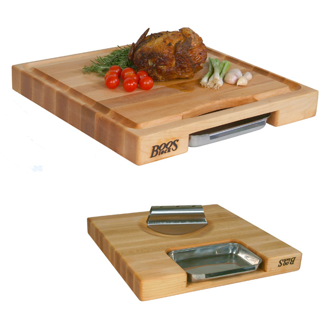 Reversible Maple Cutting Board PM18180225-P-RK with Rocker Knife