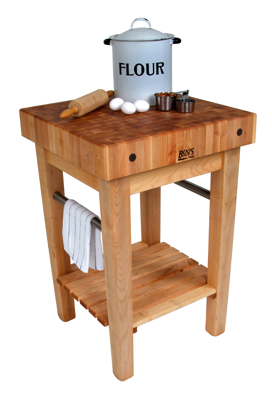 John Boos Pro Prep Block Butcher Block Table   PPB2424