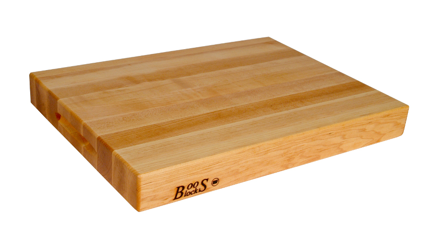 Reversible Maple Cutting Board with Finger Grips