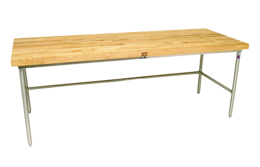John Boos Maple Top Galvanized Steel Baker's Work Table SBO-G