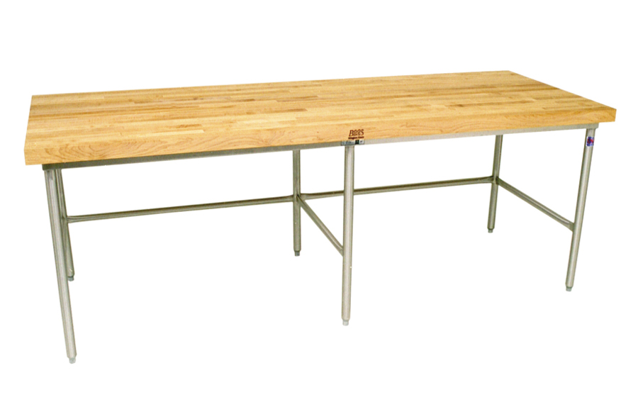 John Boos SBO-G Maple Top Galvanized Steel Baker's Work Table