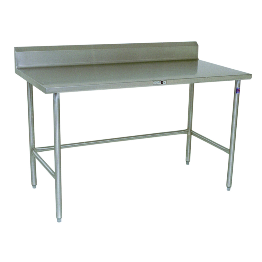 Boos Steel Work Table - 14-GA Stainless Steel Top & Riser, Galvanized Base