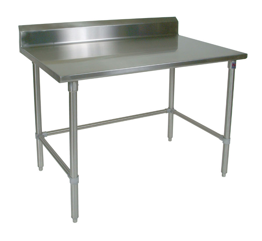 Boos All-Stainless Steel Work Table - 14-GA Top & Riser, SS Base & Bracing