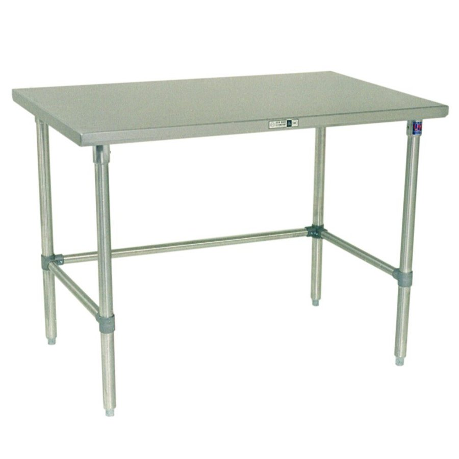 Boos Steel Work Table - 16-GA Stainless Top, Galvanized Base & Bracing