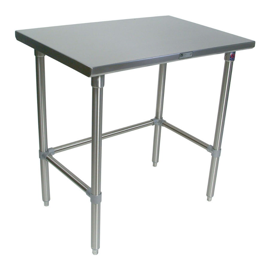John Boos All-Stainless Steel Work Table - 16-GA Top & Legs, 18-GA Bracing