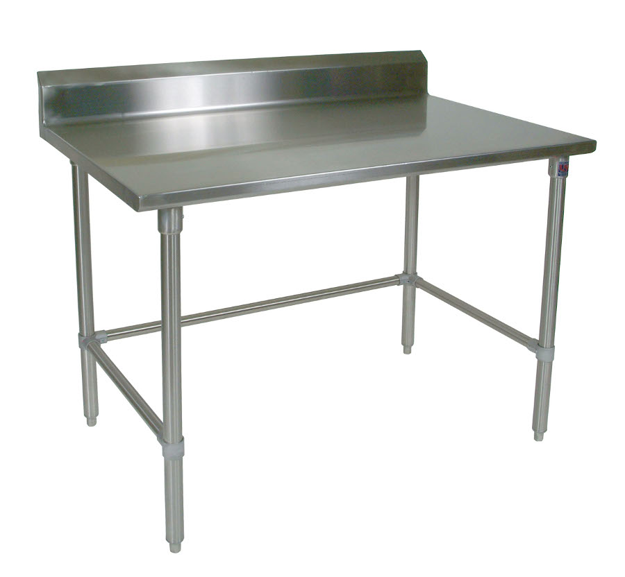 John Boos Stainless Steel Work Table ST6R5-SBK with Rear Riser