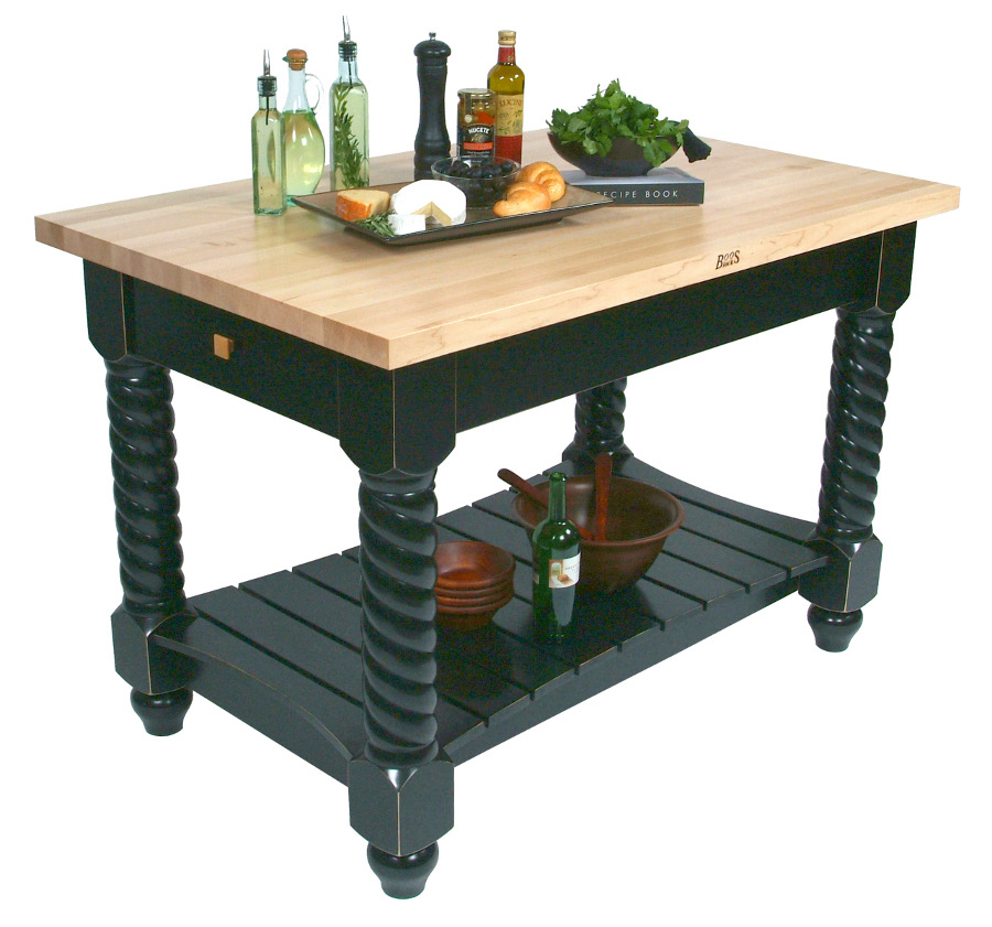 John Boos Model TUSI. Tuscan Isle Maple Butcher Block Kitchen Island