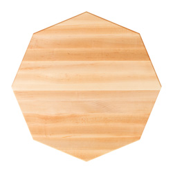 john boos maple edge grain octagonal dining table top