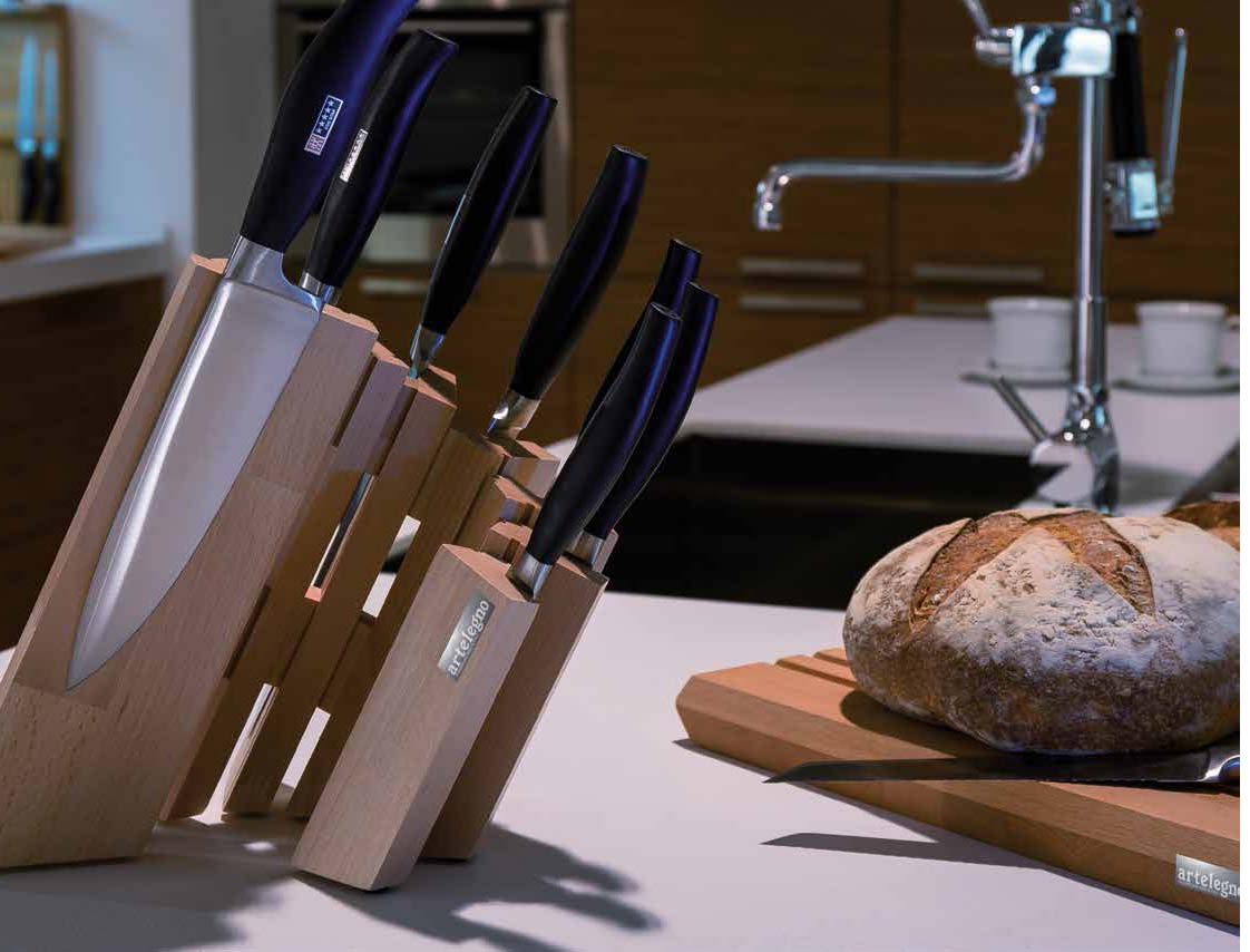 Artelegno Pisa Magnetic Knife Block - Stylish