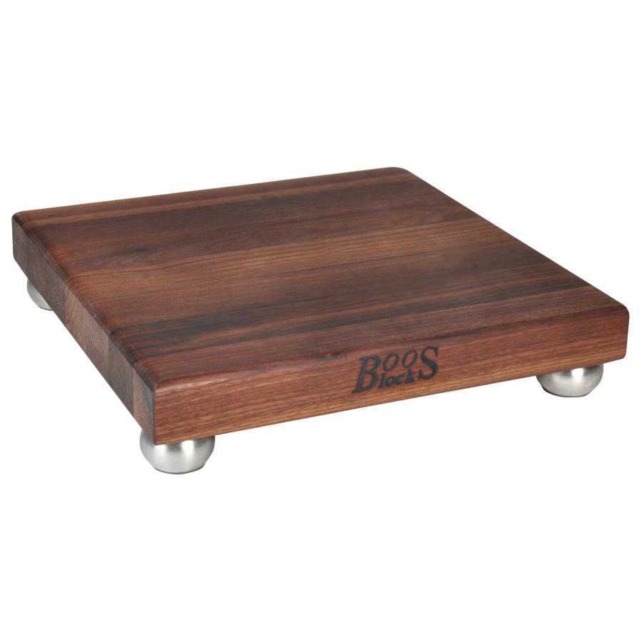 Boos Walnut Cutting Boards with Steel Bun Feet - 9