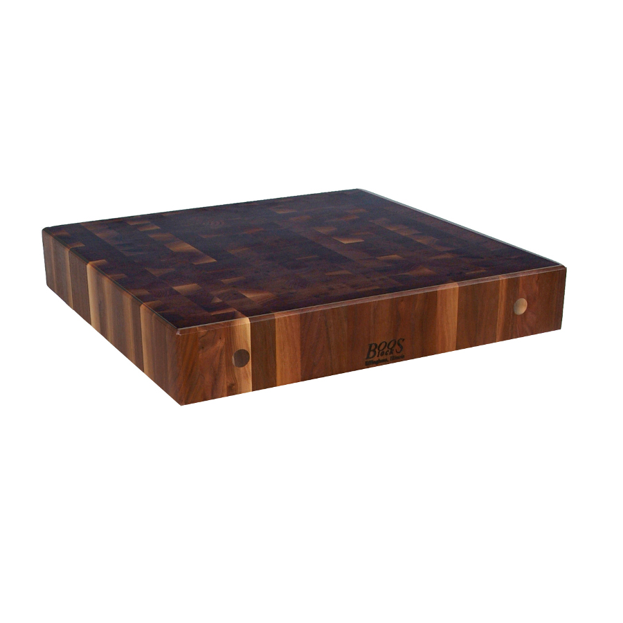 Boos walnut end grain island top 27 inches wide 3 inches thick