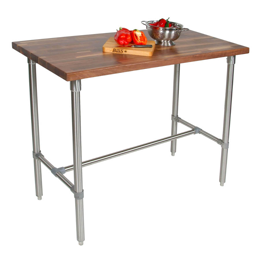 Walnut Butcher Block Work Table WAL-CUCKNB