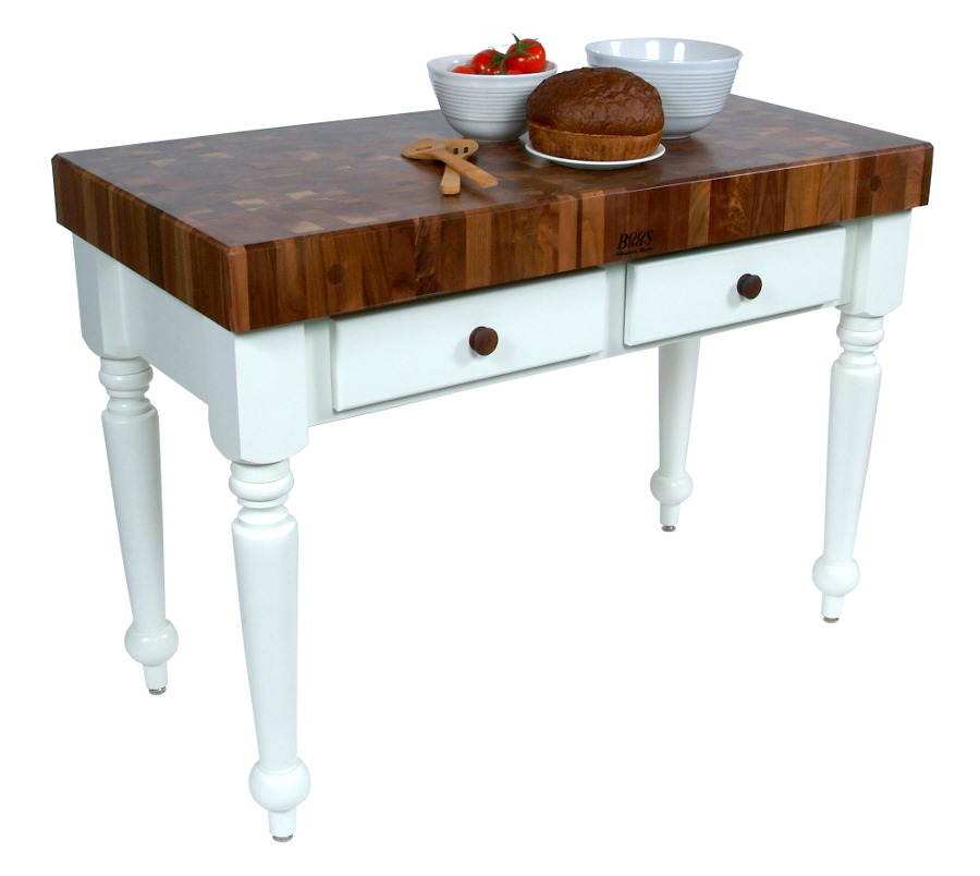 John Boos Walnut Rustica Table WAL-CUCR-AL
