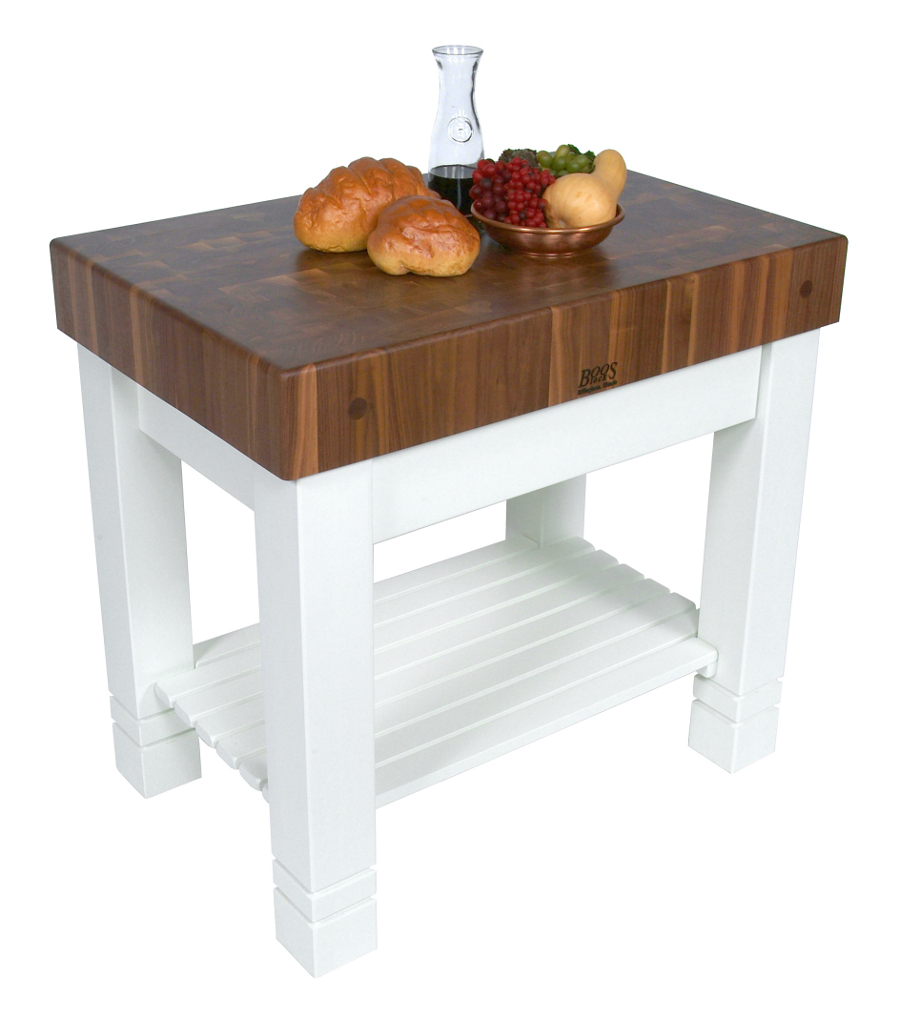 John Boos Walnut & Alabaster Homestead Butcher Block WAL-HMST36245-AL