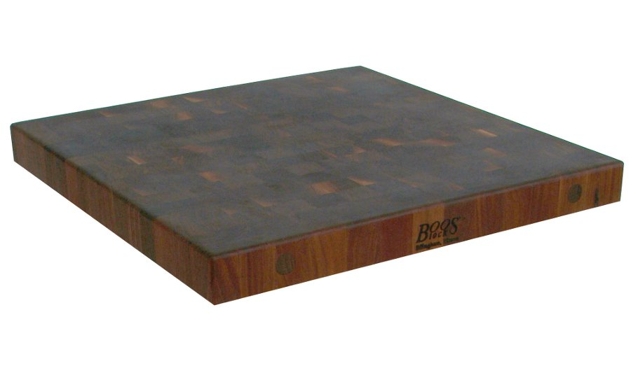 2.25 in. thick walnut end grain butcher block countertops 27 in. wide
