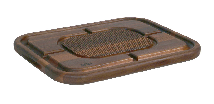 John Boos Walnut Carving Board with Pyramids & Juice Groove