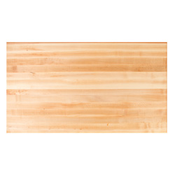 "John Boos 36"" W Rectangle Maple Edge Grain Butcher Block Table Top"