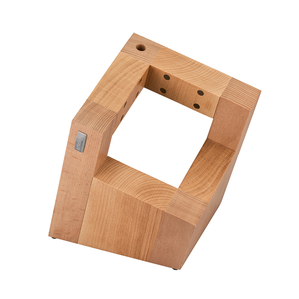 Artelegno Pisa Abstract Square Magnetic Knife Block - Unique, Functional