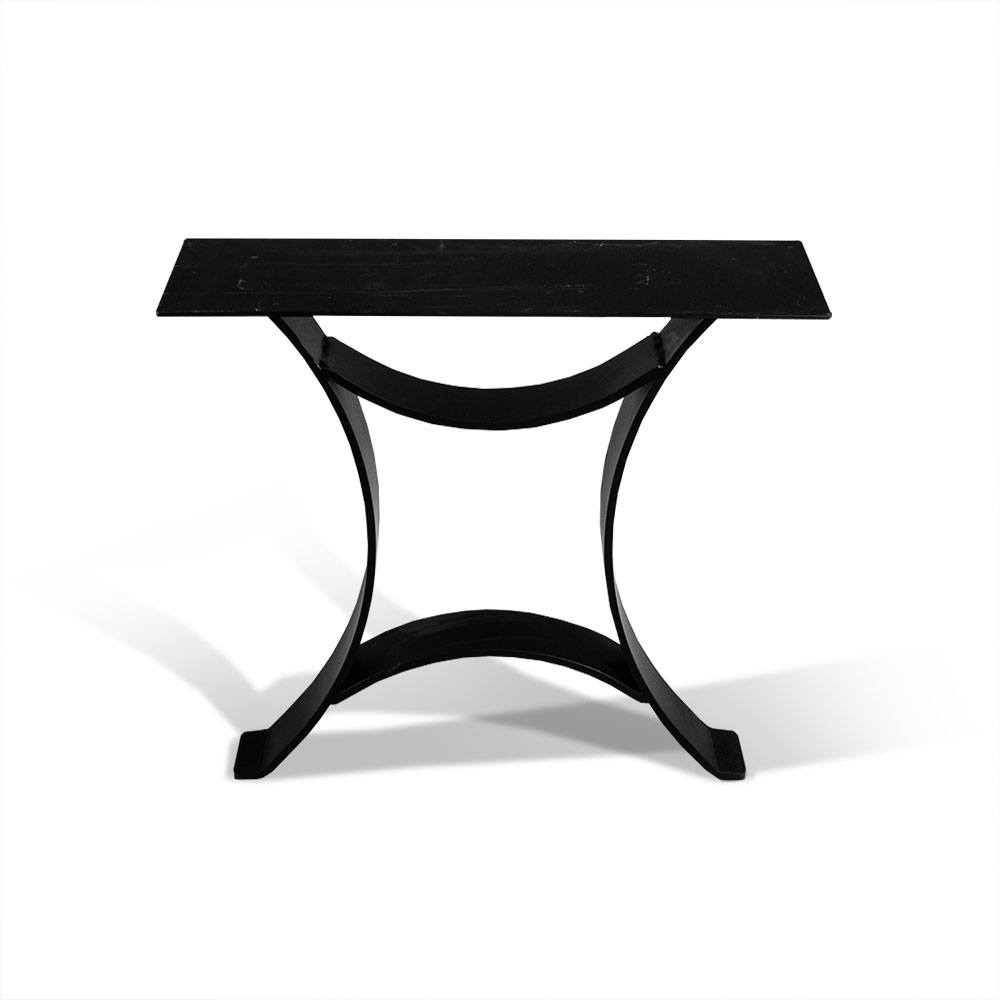Metal table base buttress cast iron table base wrought Metal table base