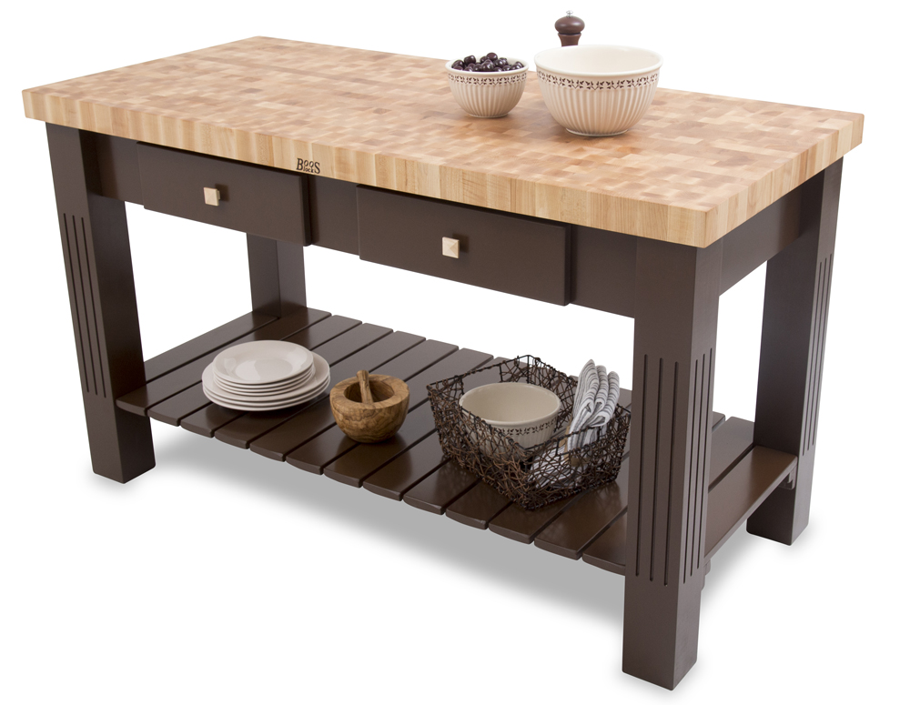 Butcher Block Kitchen Island Breakfast Bar