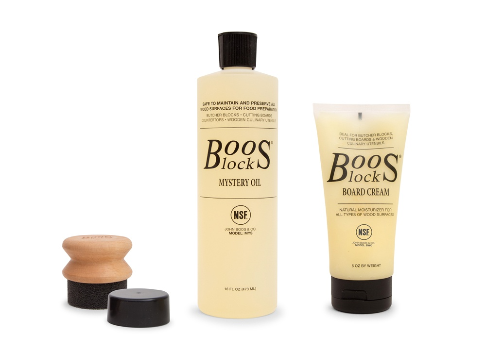 Boos Butcher Block Care & Maintenance Kit - Includes Oil, Cream & Applicator