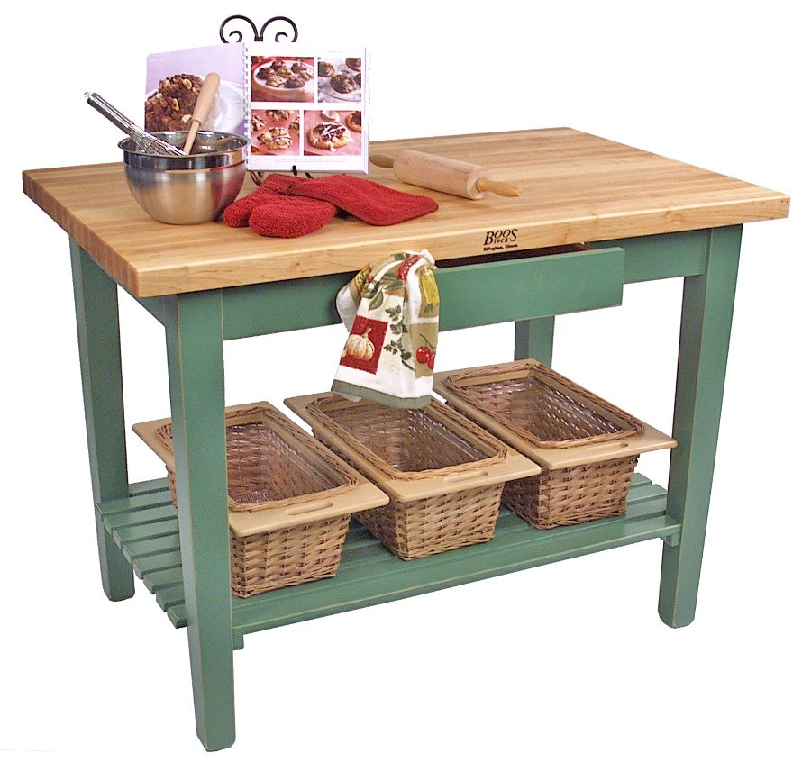 Butcher block kitchen island john boos islands for Working table design ideas
