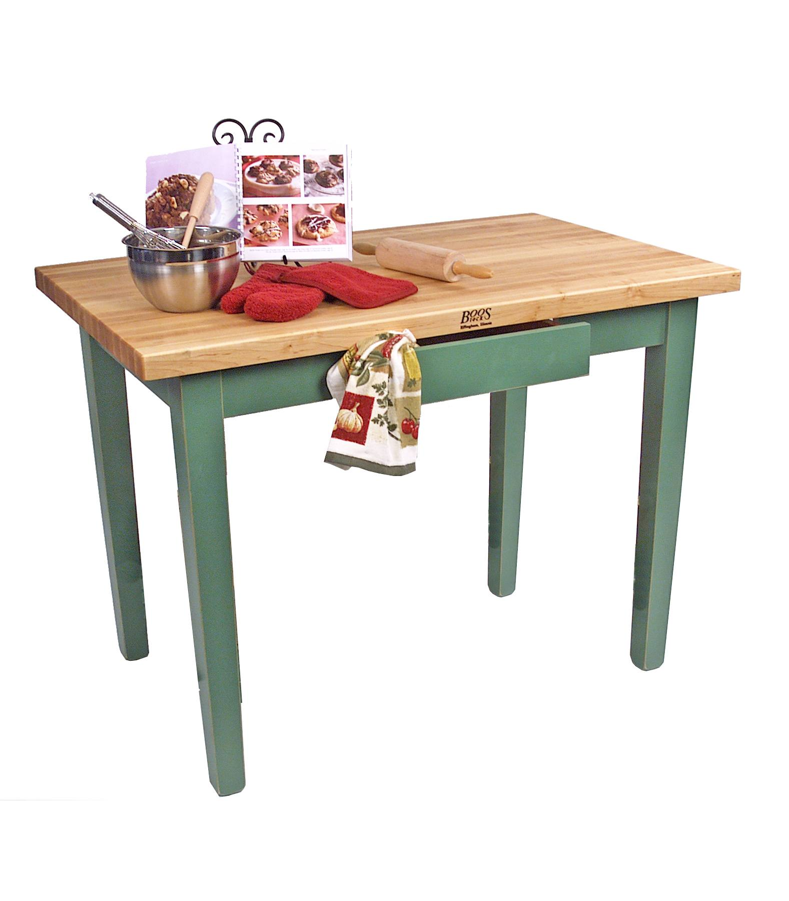 Kitchen Island 30 X 24 john boos classic country work table | island table