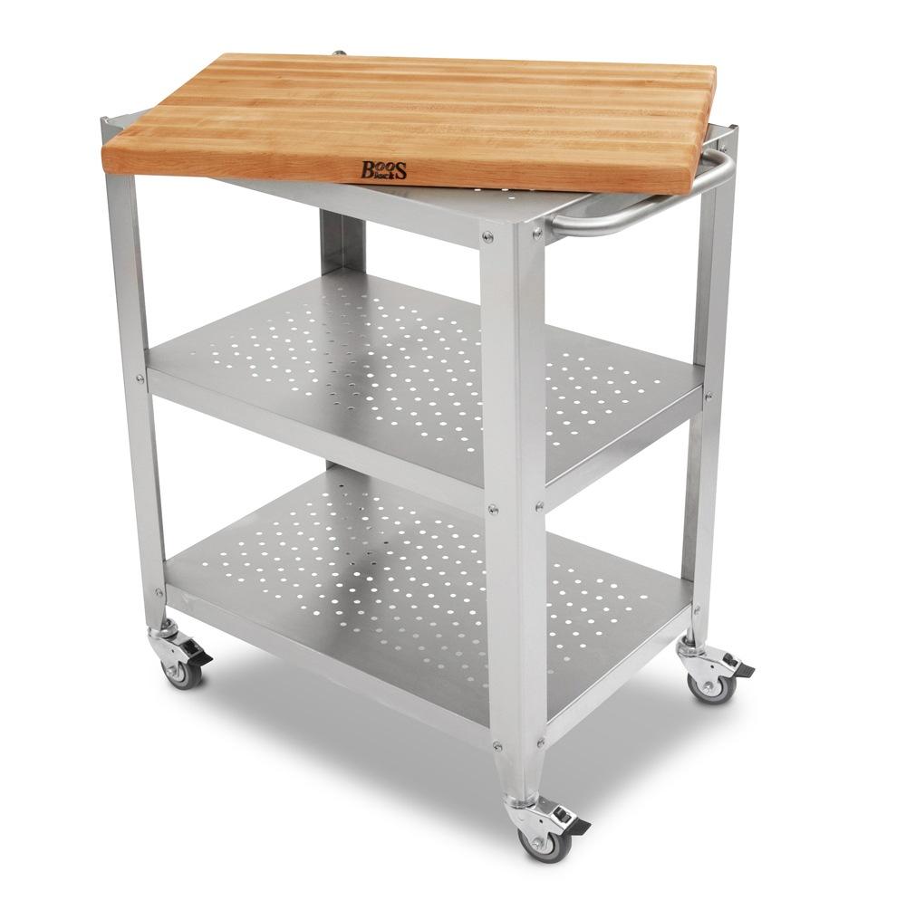 Boos Cherry Cucina Culinarte Cart – Removable Butcher Block Top