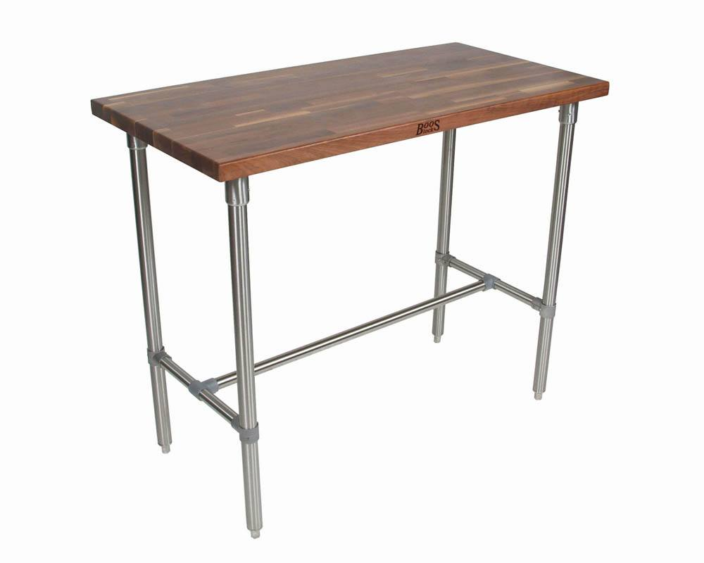 Boos Cucina Classico Walnut & Stainless Steel Table - 48