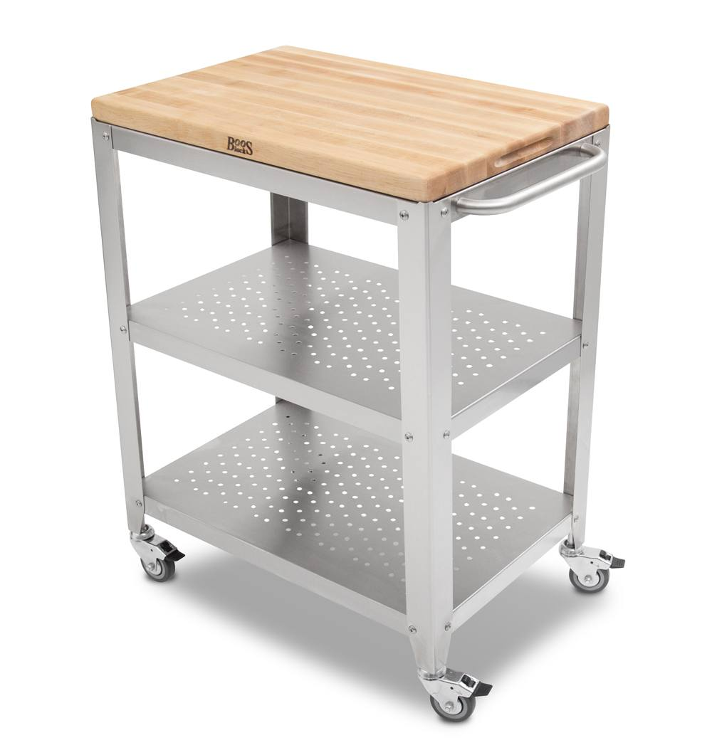 Boos Maple Cucina Culinarte Cart – Removable Butcher Block Top