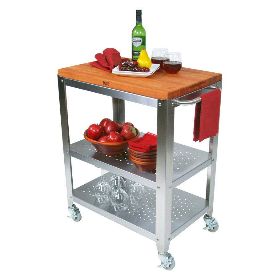 kitchen cart with removable cutting board top