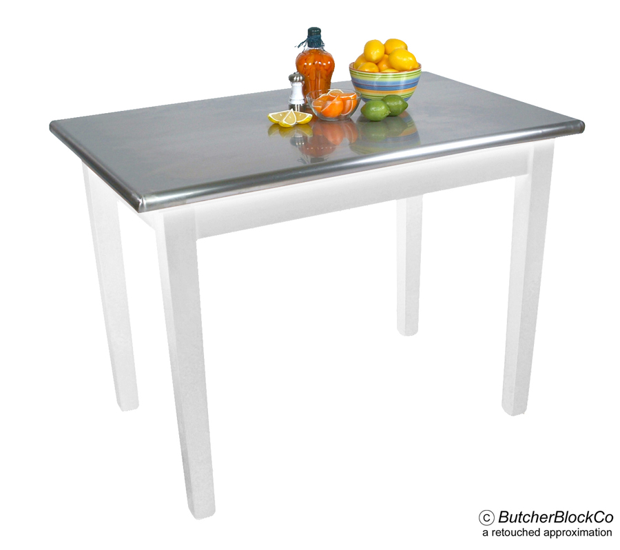 Boos Cucina Moderno Table - Stainless Steel on Alabaster Base